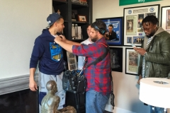 Micing up Stephan Curry of the Golden State Warriors