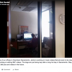 360 degree post from Facebook of our offices in Downtown Sacramento.